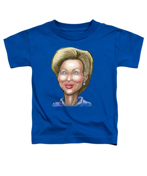 Hillary Clinton Caricature Toddler T-Shirt by Kevin Middleton