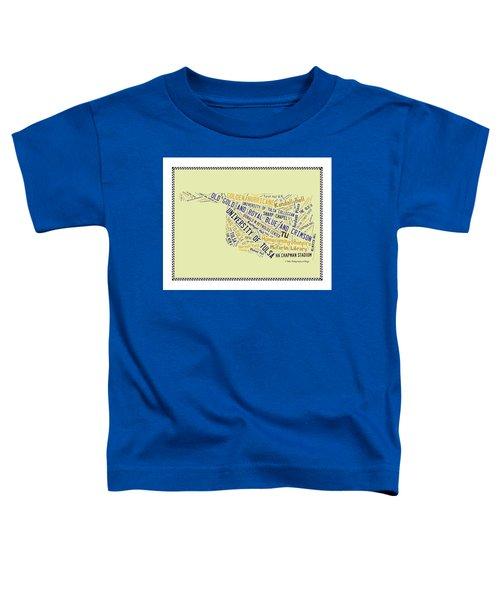 Tu Word Art University Of Tulsa Toddler T-Shirt