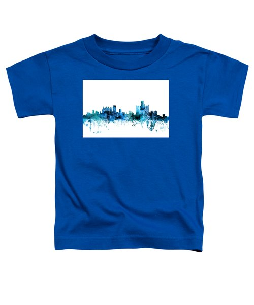 Detroit Michigan Skyline Toddler T-Shirt