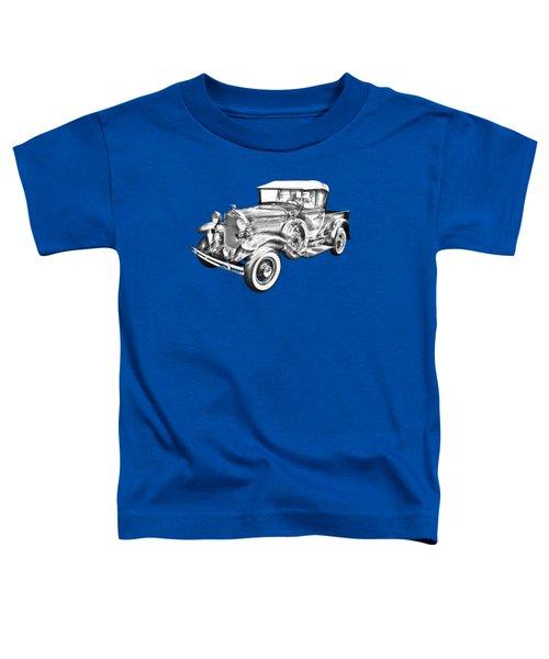 1930 Ford Model A Pickup Truck Illustration Toddler T-Shirt
