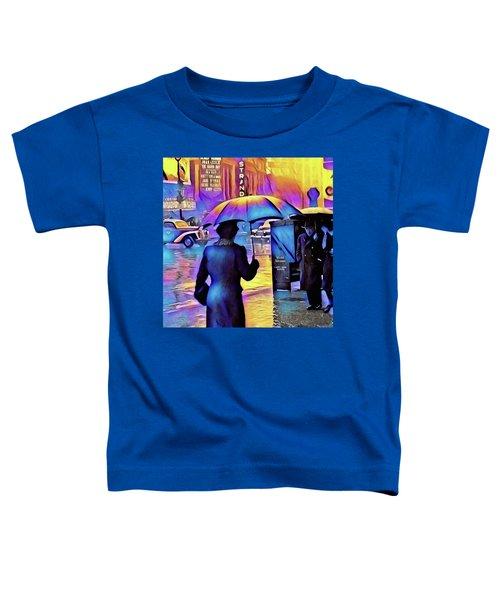 1940s Times Square Rain IIl Toddler T-Shirt