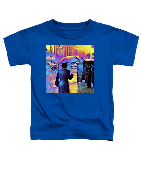 1940s Times Square Rain IIl Toddler T-Shirt