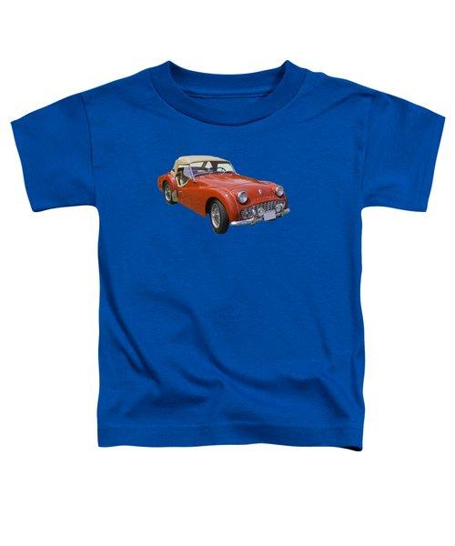 1957 Triumph Tr3 Convertible Sportscar Toddler T-Shirt