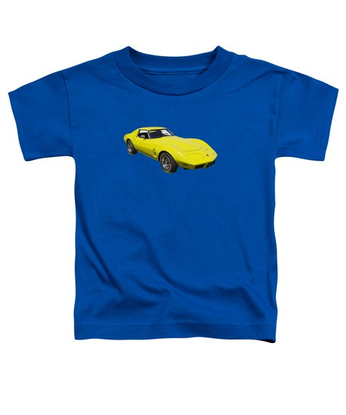 1975 Corvette Stingray Sportscar Toddler T-Shirt