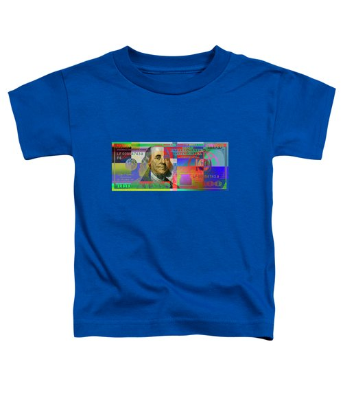 2009 Series Pop Art Colorized U. S. One Hundred Dollar Bill No. 1 Toddler T-Shirt