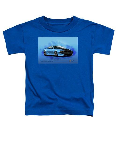 Toddler T-Shirt featuring the digital art 2014 Mustang  by Doug Schramm
