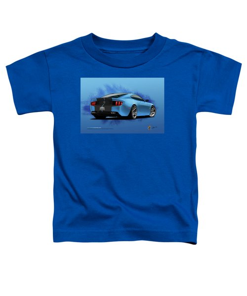Toddler T-Shirt featuring the digital art 2014 Stang Rear by Doug Schramm