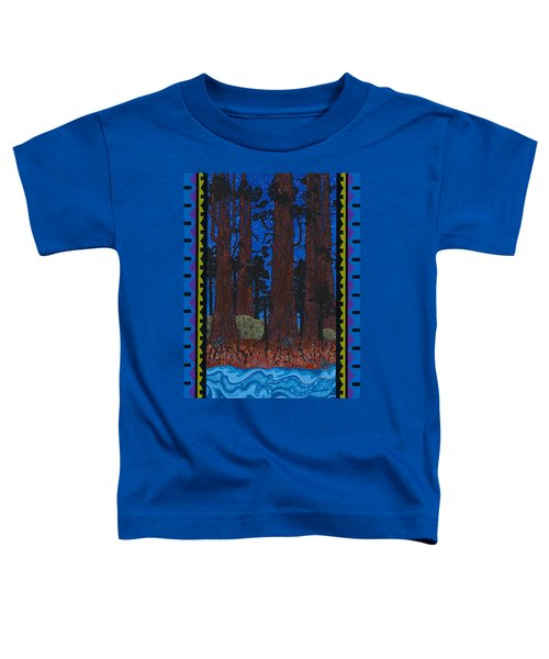 Toddler T-Shirt featuring the painting A Forest Whispers by Chholing Taha