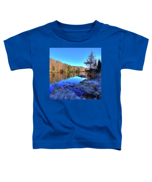 Toddler T-Shirt featuring the photograph A November Morning On The Pond by David Patterson