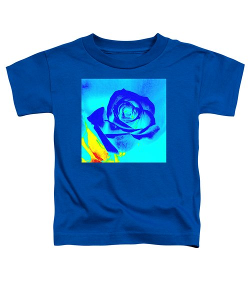 Single Blue Rose Abstract Toddler T-Shirt
