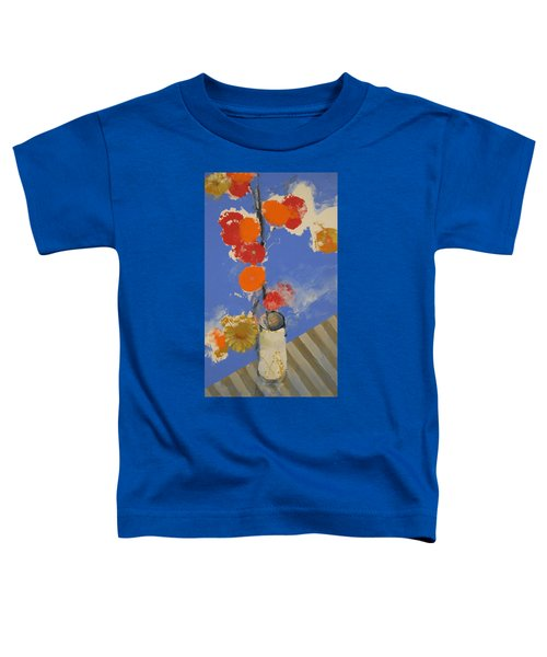Abstracted Flowers In Ceramic Vase  Toddler T-Shirt
