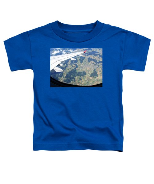 Toddler T-Shirt featuring the photograph Air Berlin Over Switzerland by Travel Pics
