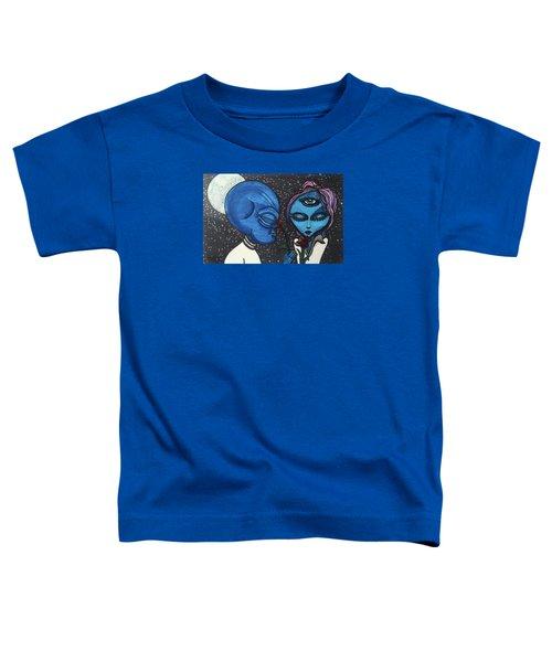 Aliens Love Flowers Toddler T-Shirt