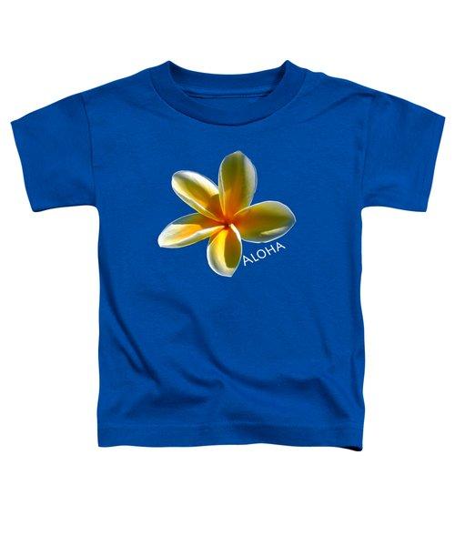 Aloha Plumeria Toddler T-Shirt