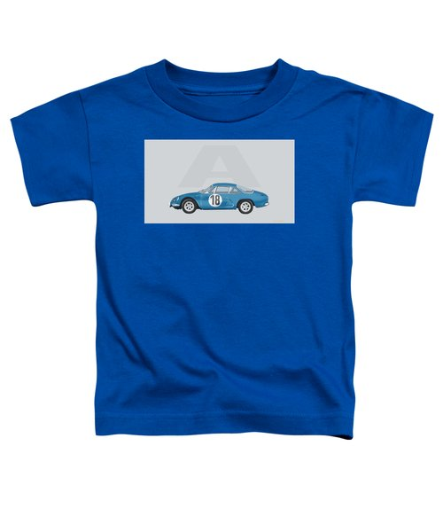 Toddler T-Shirt featuring the mixed media Alpine A110 by TortureLord Art