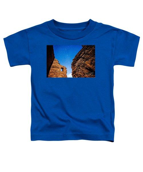 Ancient Native American Pueblo Ruins And Stars At Night Toddler T-Shirt