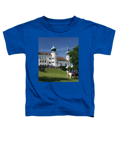 Toddler T-Shirt featuring the photograph Artstetten Castle In June by Travel Pics