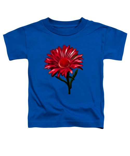 Red Daisy Toddler T-Shirt by Shane Bechler