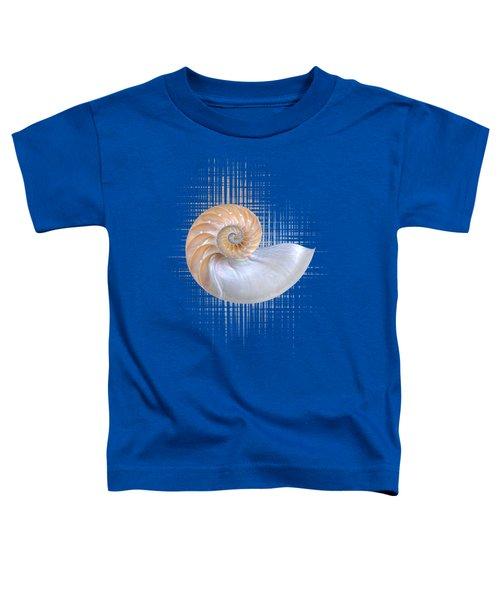Nautilus Seashell Abstract - Vertical Toddler T-Shirt