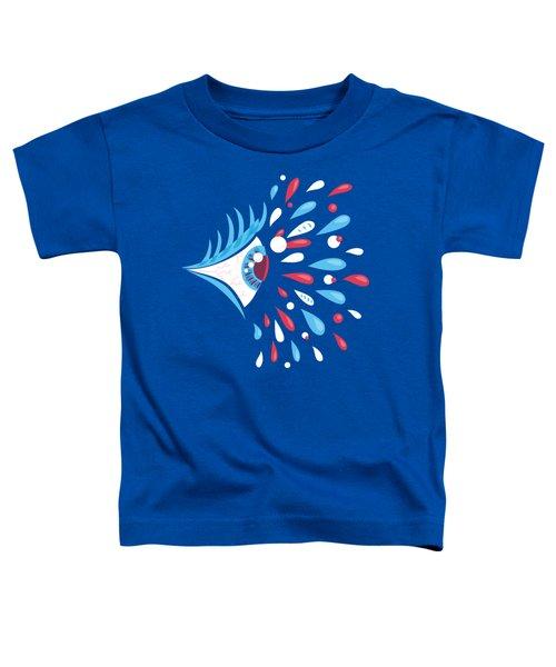 Psychedelic Eye Toddler T-Shirt
