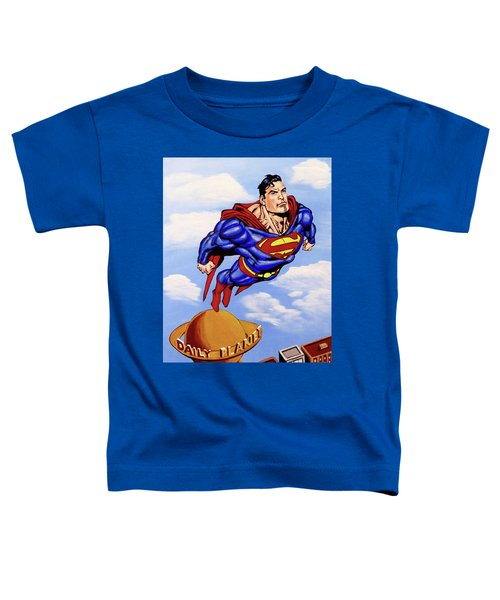 Superman Toddler T-Shirt by Teresa Wing