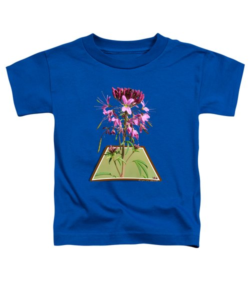 Rocky Mountain Bee Plant Toddler T-Shirt by Shane Bechler