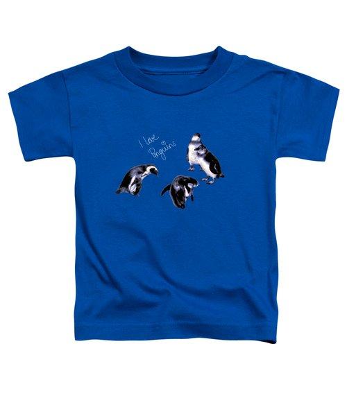 Cute Penguins Toddler T-Shirt by Pennie  McCracken
