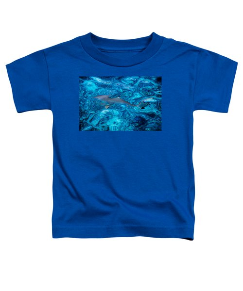 Baby Shark In The Turquoise Water. Production By Nature Toddler T-Shirt