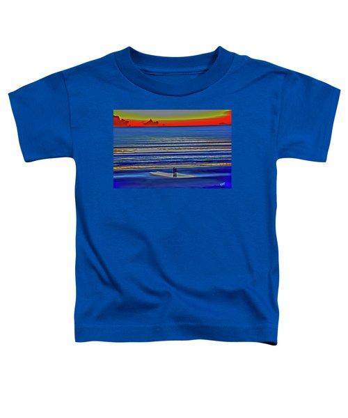 Beach Walking At Sunrise Toddler T-Shirt