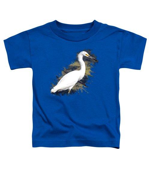 Beautiful Snowy Egret Toddler T-Shirt
