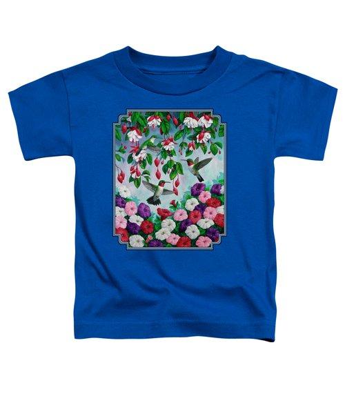 Bird Painting - Hummingbird Heaven Toddler T-Shirt by Crista Forest