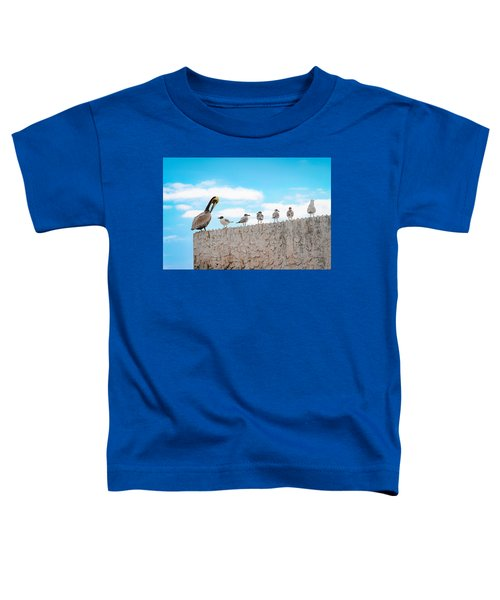 Birds Catching Up On News Toddler T-Shirt