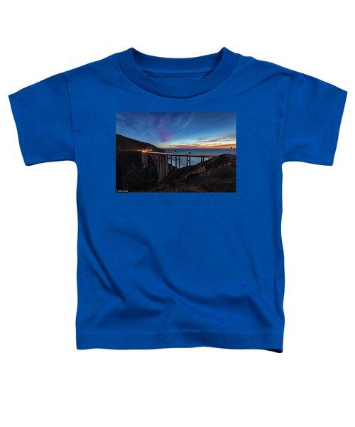 Bixby Bridge Sunset Toddler T-Shirt