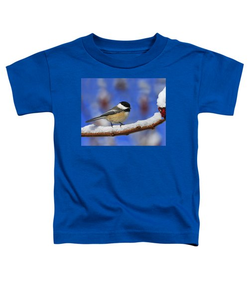 Black-capped Chickadee In Sumac Toddler T-Shirt