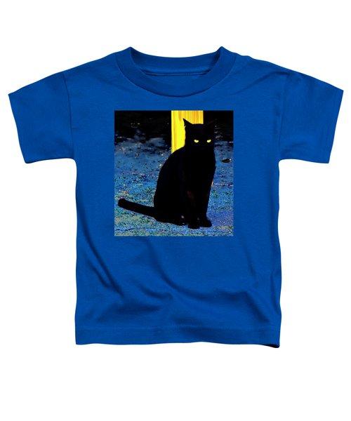 Black Cat Yellow Eyes Toddler T-Shirt