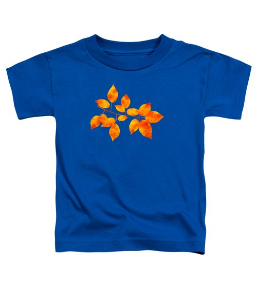 Toddler T-Shirt featuring the mixed media Black Cherry Pressed Leaf Art by Christina Rollo