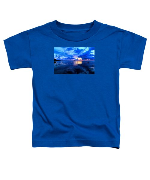 Toddler T-Shirt featuring the photograph Blazing Blue Sunset by Anthony Baatz