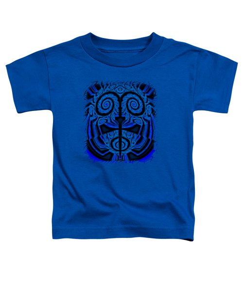 Blue And Black Mask 2 Toddler T-Shirt