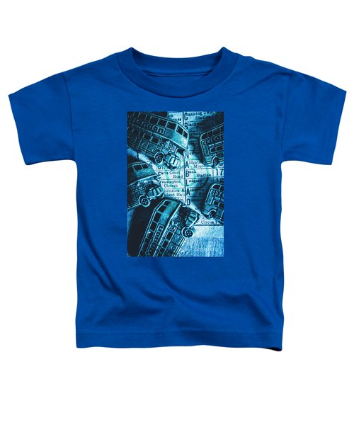 Blue Britain Bus Bill Toddler T-Shirt