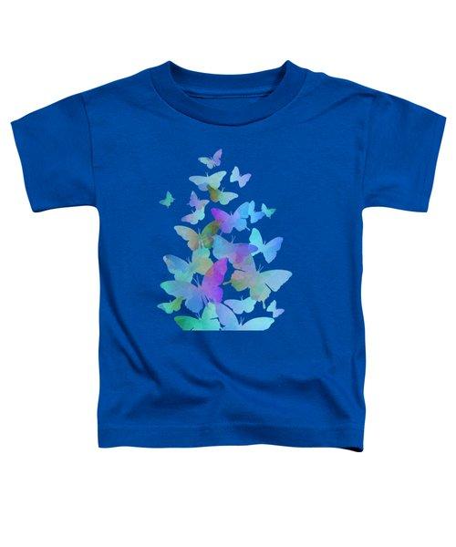 Blue Butterfly Flutter Toddler T-Shirt