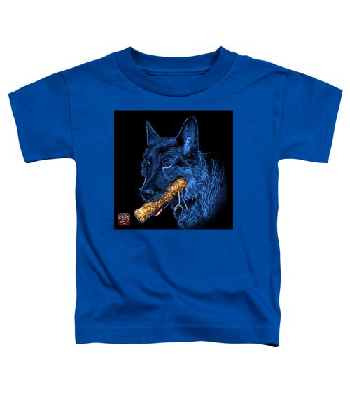 Blue German Shepherd And Toy - 0745 F Toddler T-Shirt