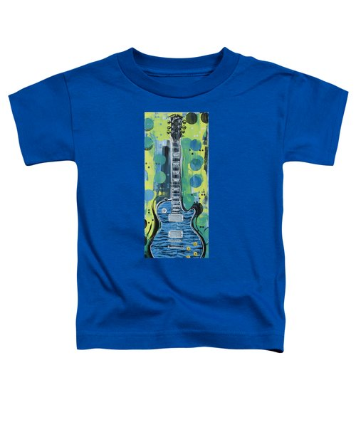 Blue Gibson Guitar Toddler T-Shirt
