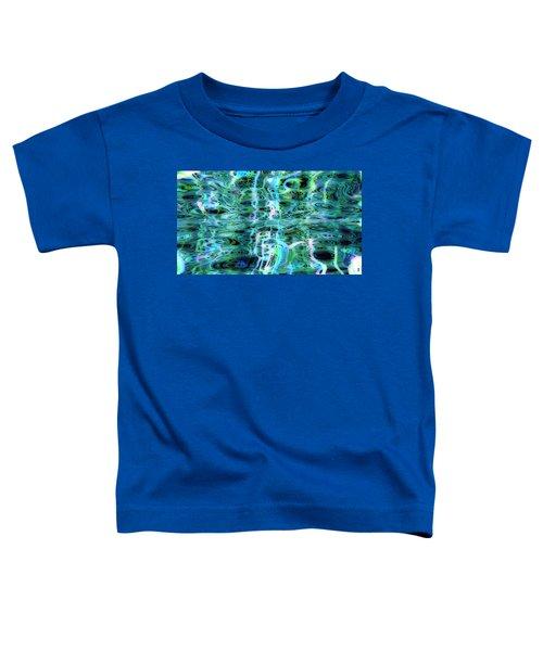 Blue Green Abstract 091015 Toddler T-Shirt