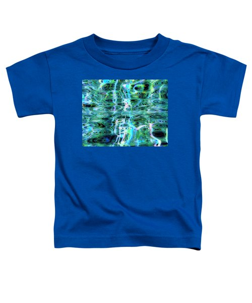 Blue Green Abstract 091015 Toddler T-Shirt