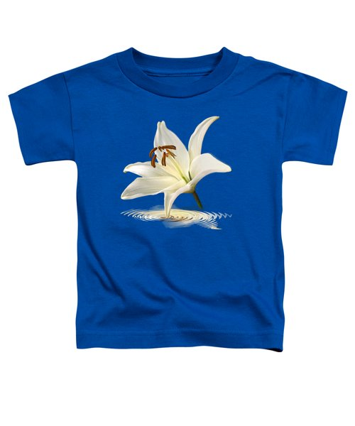 Blue Horizons - White Lily Toddler T-Shirt by Gill Billington