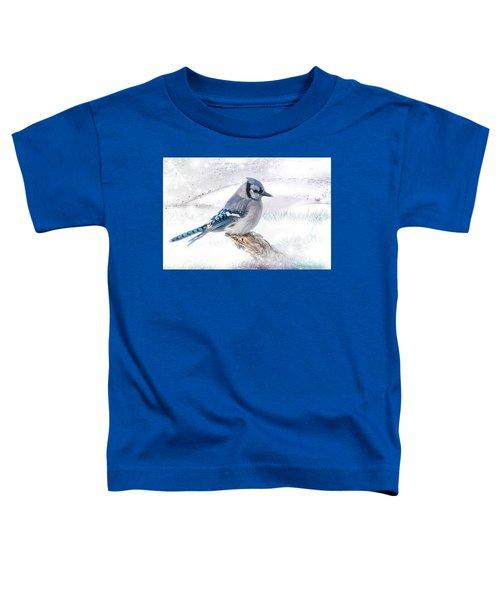 Blue Jay Snow Toddler T-Shirt