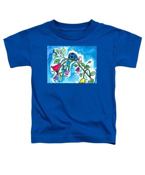 Blue Ladybug Toddler T-Shirt