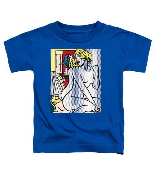 Blue Nude - Pop Art  Toddler T-Shirt