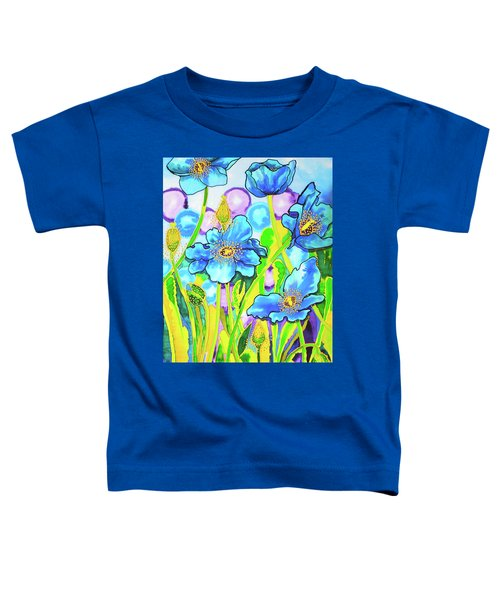 Blue Poppies 2 Belize Toddler T-Shirt
