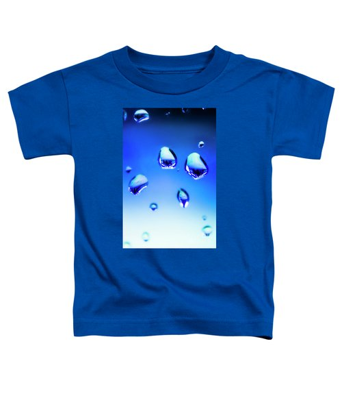 Blue Water Droplets On Glass Toddler T-Shirt